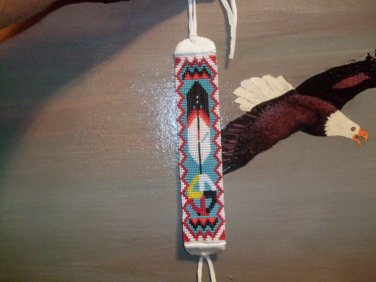Medicine Wheel and Feather Bracelet Item BB200