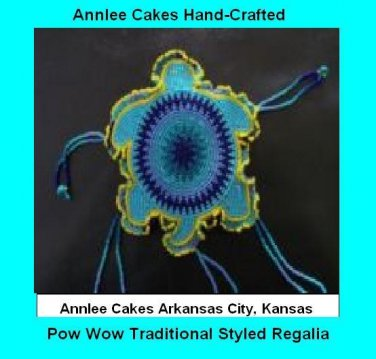 Powwow Beaded Barrette Turtle