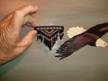 Pow Wow Beaded Barrette Item TWA1000