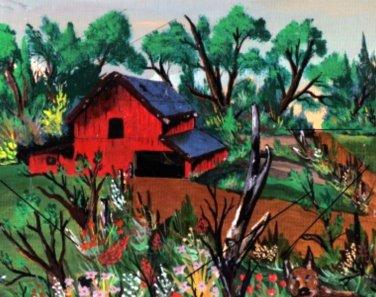Trail and Dog an Original Acrylic by RWV