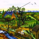 Farm Scene on Canvas Print