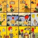 Trouble Cartoon Board Cavas Print