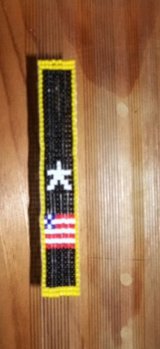 Army Beaded Button Drop Sash