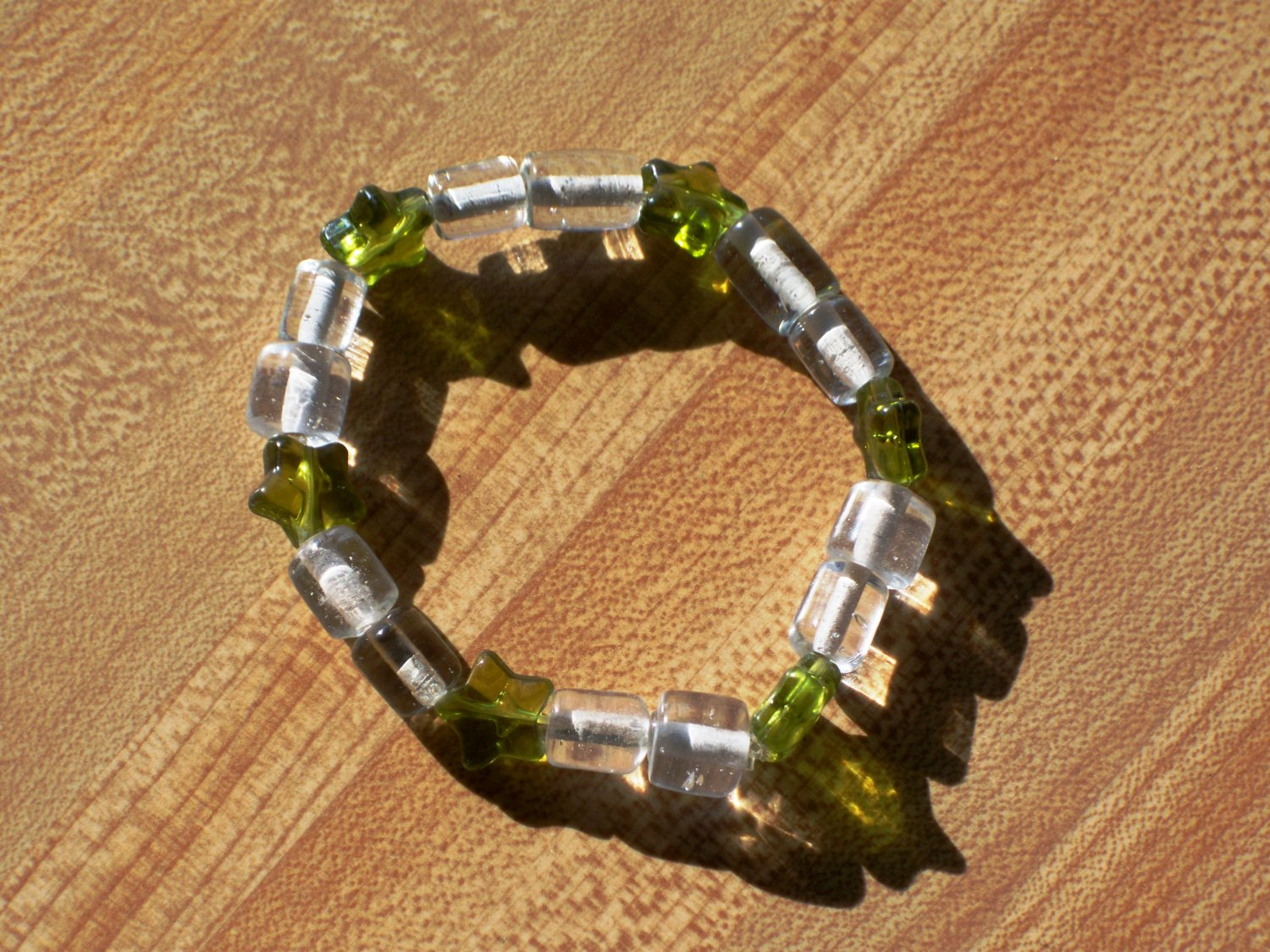Green Shooting Stars Bracelet