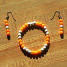 Big Orange Bracelet and Earrings