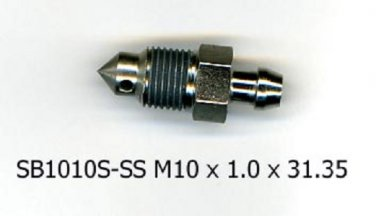 Stainless Steel  SB1010S-SS  M10 x 1.0  Speed Bleeder