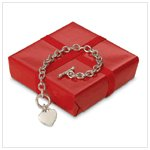 HEART PENDANT LINK BRACELET-AVAILABLE NOW-#31493