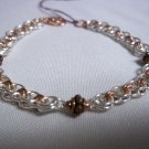 Silver & Copper Chainmaile Bracelet