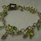 "Handmade, ""Simply Green"" Charm Bracelet"