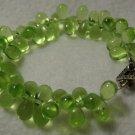 Handmade Green Teardrop Bracelet