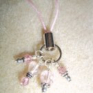 Pink Mini Heart Cell Phone Charm