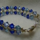Blue & Silver Chainmaile Bracelet