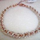 Silver & Copper Chianmaile Bracelet