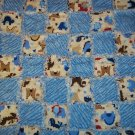 Dinosaur Rag Quilt Security Blanket