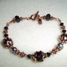 Handmade Copper and Crystal Bracelet