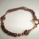 Handmade Copper & Chain Bracelet