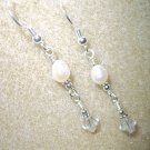 Handmade Crystal & Pearl Bridal Earrings!