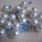 Beaded Bracelet Kit - Glass Pearl & Blue