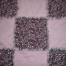 Handmade Pink Cheetah Print Rag Quilt - Security Size