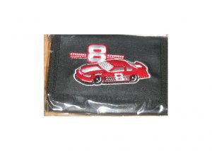 Earnhardt Black Leather # 8 Wallet With Car Design
