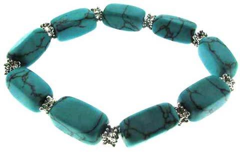 Turquoise Semi Precious Stone Bracelet