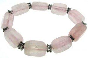 Pink Quartz Semi Precious Stone Bracelet