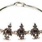 Clown Silver Cast Bracelet