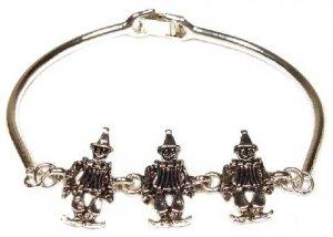 Clown Silver Cast Bracelet