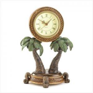 Tropical Palm Tree Clock