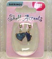 Heart shaped accent earrings