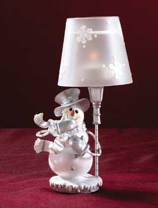 Snowman Candle Holder Tea Light Lamp