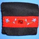 Black, Red, and Purple Organic Wool Felt Tri-Fold Wallet
