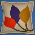 Contempo Wool Felt Three Leaf Pillow