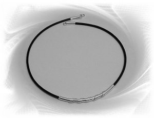 Artisian Handcrafted Sterling Silver Black Cord Necklace With Accent Pendant