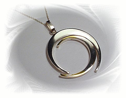 10 Sterling Silver Circle Pendant, Wholesale