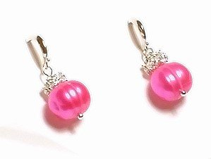 Artisian Handcrafted Designer Pink Freshwater Pearl Earrings