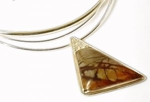 Artisian Handcrafted Sterling Silver Jasper Pendant Necklace