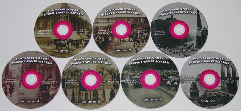 7 DVD WITH 4136 PANORAMIC IMAGES 1891 to 1991 Hi-Res