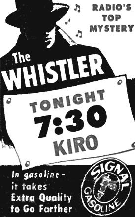 THE WHISTLER (1942-1955)  Old Time Radio-DVD - 441 mp3