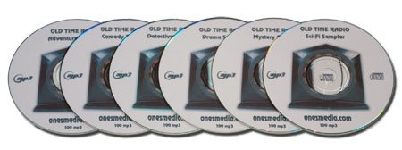 FANTASTIC OLD TIME RADIO SAMPLER - 6 CD-ROM - 600 mp3
