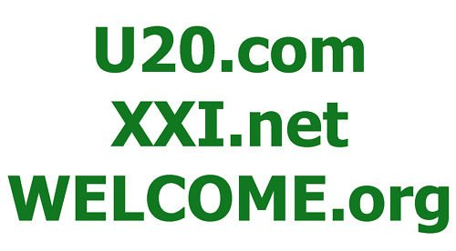 XXI.net - WELCOME.org - U20.com DOMAIN NAMES FOR SALE