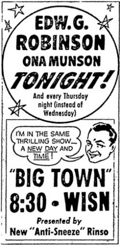 BIG TOWN (1937-49) Old Time Radio - CD-ROM - 42 mp3