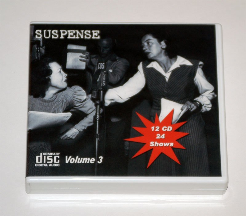 THE SUSPENSE COLLECTION - Volume 3 - OLD TIME RADIO - 12 AUDIO CD - 24 SHOWS