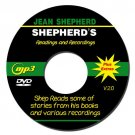 JEAN SHEPHERD'S PIE  SLICE 1 to 7 - mp3 AUDIO DVD ROM  with all seven original slices in mp3 format