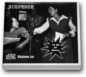 THE SUSPENSE COLLECTION - Volume 20 OLD TIME RADIO - 12 AUDIO CD - 24 SHOWS