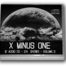 X MINUS ONE Volume 3 OLD TIME RADIO-12 AUDIO CD - 24 SHOWS - Playtime: 11:01:21