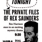 REX SAUNDERS OLD TIME RADIO - 1 CD - 14 mp3 - Total Time: 6:29:55
