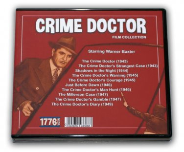 CRIME DOCTOR FILM COLLECTION - 5 DVD-R - 10 MOVIES - with Warner Baxter