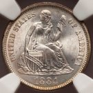 1884 Seated Liberty Dime MS67 NGC