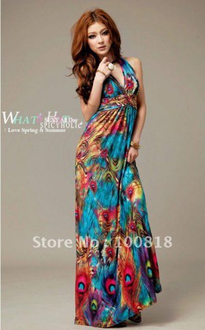 Bohemian Womens Summer Long MAXI Dress Sexy Dress